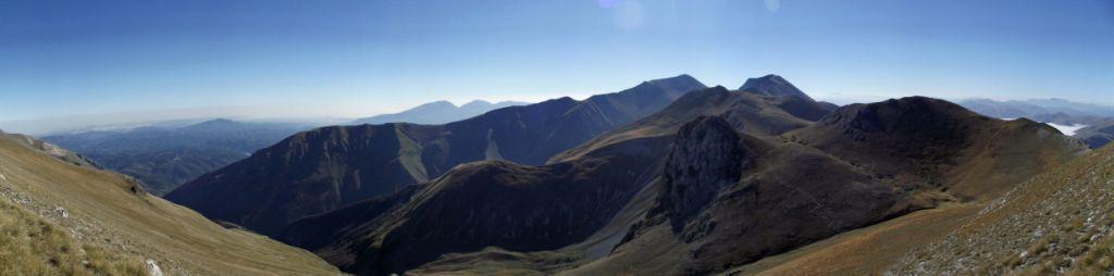 panorama dalla vetta del monte porche