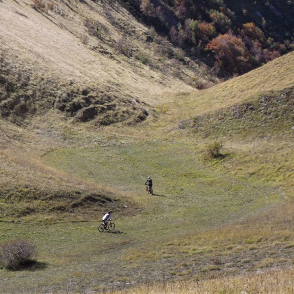 imbocco del sentiero per fonte dell'aquila