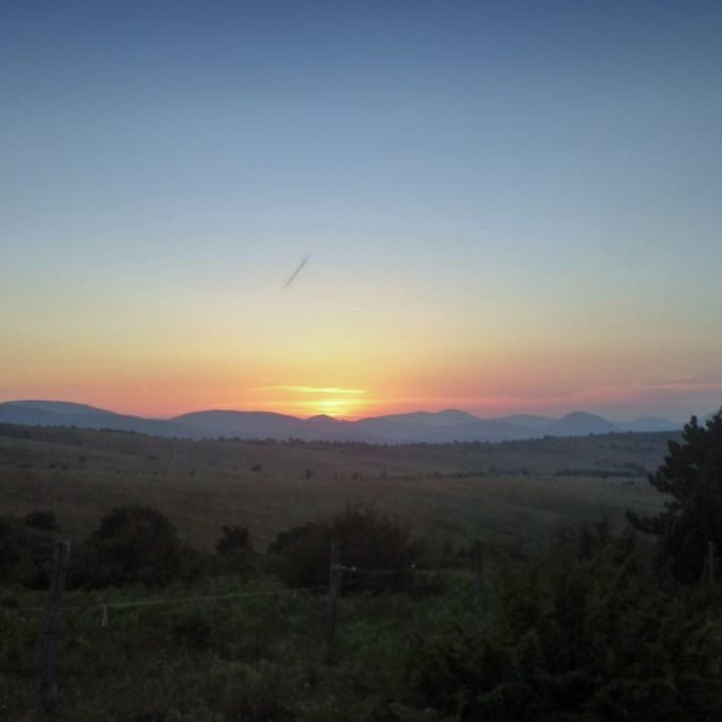 tramonto a cupi