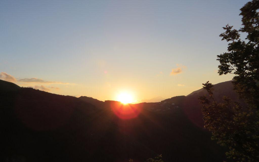 tramonto a passo ventoso