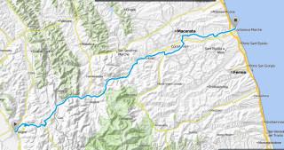 mappa ciclovia chienti